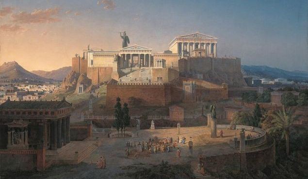 Ancient Greece, birthplace of democracy.
