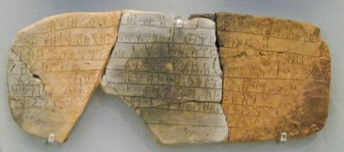 Linear B script