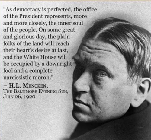 Quote By Hl Mencken: Tim Harding's Writings On Rationality