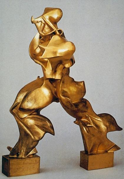 Unique Forms of Continuity in Space by Umberto Boccioni (1913)