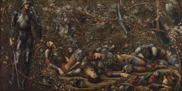 The Briar Wood (1874-8) by Edward Burne-Jones. The Faringdon Collection Trust